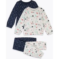 2 Pack Castle & Unicorn Print Pyjama Set (1-7 Years)