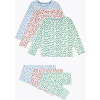 3 Pack Cotton Floral Print Pyjama Set (1-7 Years)