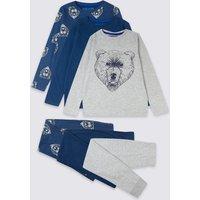 3 Pack Cotton Bear Pyjamas (3-16 Years)