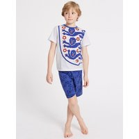 England FA Short Pyjamas (3-16 Years)