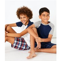 2 Pack Cotton Checked Pyjama Sets (3-16 Years)