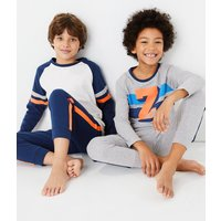 2 Pack Cotton Rich Striped Pyjama Sets (6-16 Years)