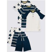 3 Pack Pure Cotton Short Pyjamas (3-16 Years)