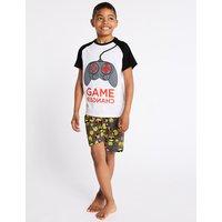Emoji Pure Cotton Short Pyjamas (7-16 Years)