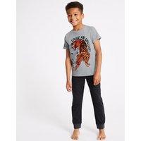 Cause An Uproar Tiger Pyjama Set (3-16 Years)