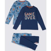 2 Pack Game Over Pyjama Set (3-16 Years)
