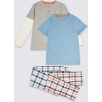 2 Pack Checked Pyjama Set (3-16 Years)