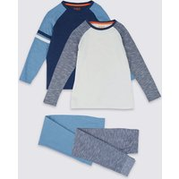 2 Pack Cotton Raglan Pyjama Set (3-16 Years)