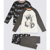 2 Pack Camouflage Print Pyjama Set (3-16 Years)