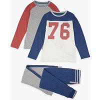 2 Pack 76 Slogan Pyjama Set (3-16 Years)