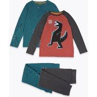 2 Pack Dinosaur Print Pyjama Set (3-16 Years)
