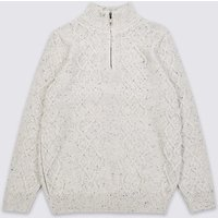 Cotton Rich Zipped Jumper (3-16 Years)