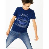Pure Cotton 24/Seven Gamer Slogan T-Shirt (3-16 Years)