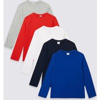 5 Pack Easy Dressing Tops (1-16 Years)