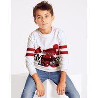 Mickey Mouse Pure Cotton Top (3-16 Years)