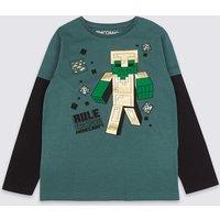 Pure Cotton Minecraft T-Shirt (3-16 Years)