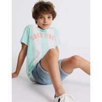 Pure Cotton Good Vibes T-Shirt (3-16 Years)