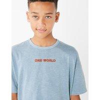 Cotton One World Slogan T-Shirt (3-16 Years)