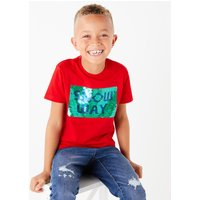 Cotton Snow Way Sequin T-Shirt (3-16 Years)