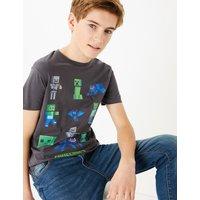Cotton Minecraft Design T-Shirt (6-16 Years)