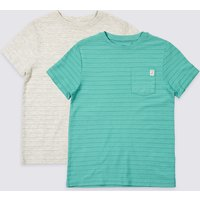 2 Pack Cotton Rich T-shirts (3-16 Years)