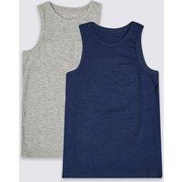 2 Pack Vest Tops (3-16 Years)
