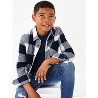 Cotton Checked Shirt and T-Shirt (3-16 Years)
