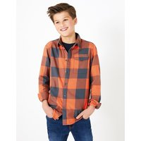 2 Piece Cotton Checked Shirt with T-Shirt (6-16 Years)