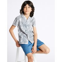 Autograph Pure Cotton All Over Print Shirt (3-16 Years)