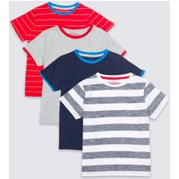 4 Pack Short Sleeve Tops (3 Months - 7 Years)