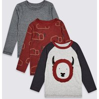 3 Pack Graphic Tops (3 Months - 7 Years)