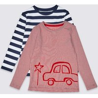 2 Pack Pure Cotton Tops (3 Months - 7 Years)