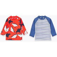 2 Pack Printed Rash Vests (2-7 Years)