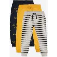 3 Pack Cotton Print Joggers (3 Months - 7 Years)
