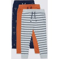 3 Pack Cotton Rich Joggers (3 Months - 7 Years)