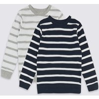2 Pack Pure Cotton Striped Sweatshirts (3 Months - 7 Years)