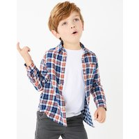Cotton Checked Double Faced Shirt (2-7 Years)