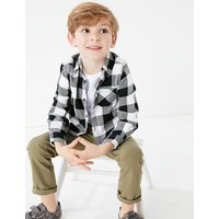Brushed Cotton Checked Shirt with T-Shirt (2-7 Years)