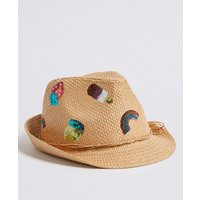 Kids' Straw Trilby Fruit Print Hat (6 Months - 6 Years)
