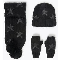 Kids' Star Print Hat, Scarf and Mittens Set (3-14 Years)