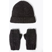 Kids' Lurex Hat and Mittens Set Set (3-14 Years)