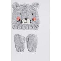 Kids' Mouse Hat & Gloves Set