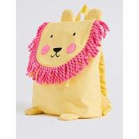 Kids' Pure Cotton Lion Tassel Backpack