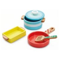 M&S Early Learning Centre Unisex Wooden Kitchen Pots and Pans (3+ Yrs) - 1SIZE