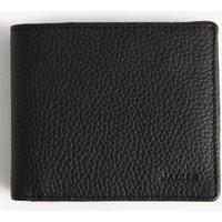 M&S Jaeger Mens Leather Bi-fold Wallet - 1SIZE - Black, Black,Brown