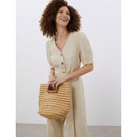 M&S Jaeger Womens Straw Bucket Bag - 1SIZE - Natural, Natural