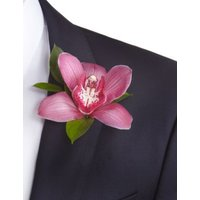 M&S Orchid & Rose Collection - Groom Button Hole