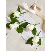 M&S White Rose & Freesia - Additional Guest Buttonholes x 4