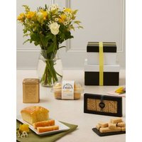 M&S Afternoon Treats With Flowers Gift Set