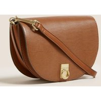MandS Womens Faux Leather Saddle Cross Body Bag - 1SIZE - Tan, Tan,Natural Mix,Cream